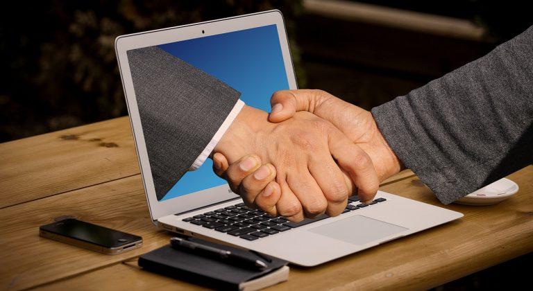 handshake, hands, laptop-3382504.jpg
